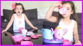 Evcilik Oyunu Oynadık, Rüya Annesine Çay Kahve Yaptı Afiyetle İçtik l Çocuk Videosu