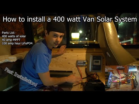 Van Life: 400 watt Solar Power System Fast Installation