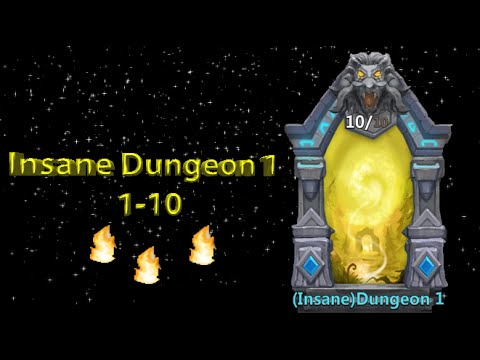 Castle Clash Insane Dungeon 1 (1-10)