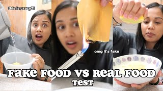 testing if my food is REAL or FAKE | clickfortaz