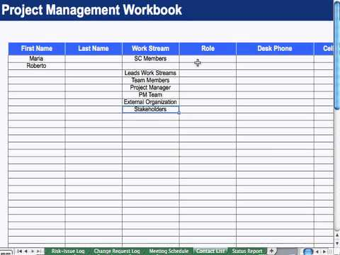 8 contact list project management youtube for Project management contact list template