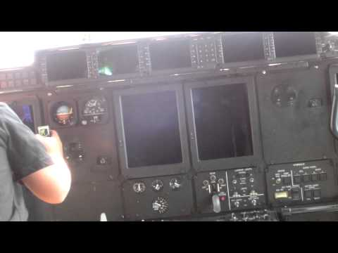New Lockheed Martin C-130J Super Hercules cockpit - USAF California