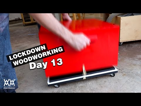 Day 13 | The big red box, but with horrible wheels | LOCKDOWN WOODWORKING