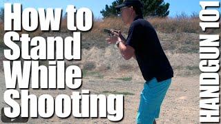 Video How to Stand When Firing a Pistol: Shooting Stance - Handgun 101 with Top Shot Chris Cheng download MP3, 3GP, MP4, WEBM, AVI, FLV Juli 2018