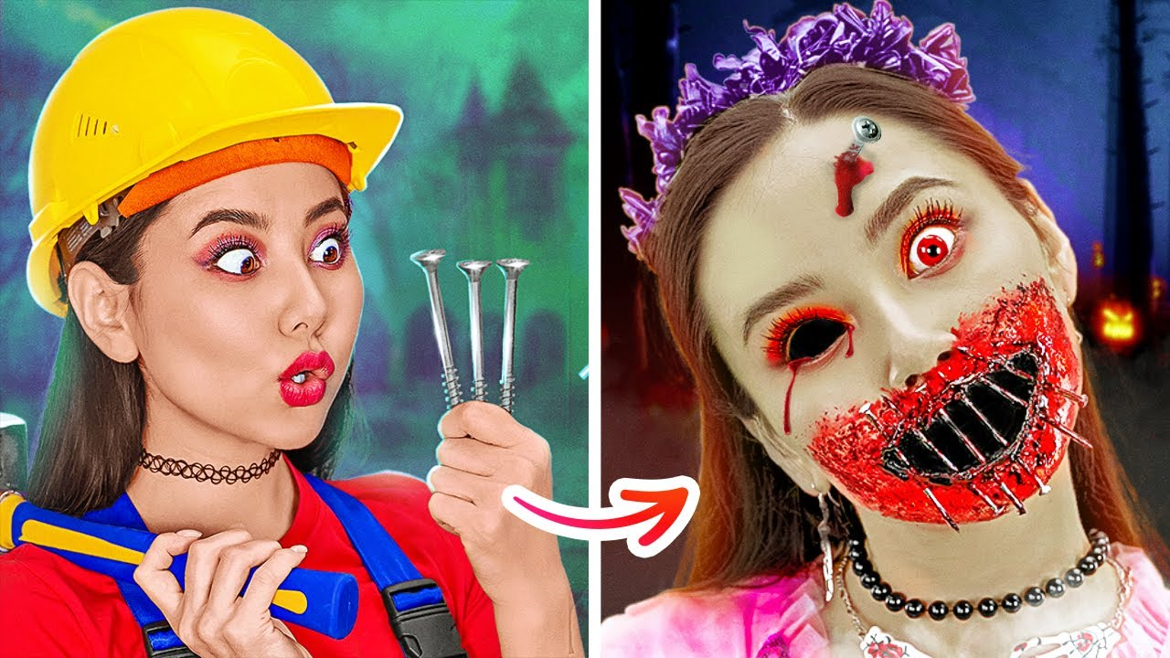 HALLOWEEN MAKEUP AND COSTUMES DIY IDEAS || Spooky SFX Makeup Tutorials! Pranks On Friends by 123 GO!