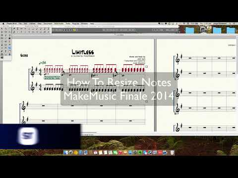 MakeMusic Finale 2014: How To Resize Notes - Jorge Silvestrini