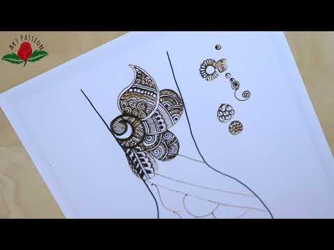 practice rajwari style intricate bridal mehendi designs for hands :12 hindi