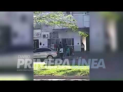 (Video) Incendio en un depósito de motos en Resistencia