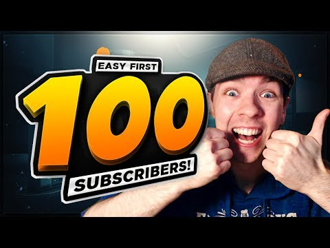 How To Get Your First 100 SUBSCRIBERS - EASY YouTube Guide