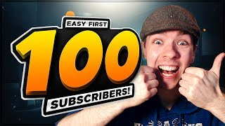 Video How To Get Your First 100 SUBSCRIBERS - EASY YouTube Guide download MP3, 3GP, MP4, WEBM, AVI, FLV Juli 2018