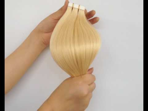 Amazing Beauty Hair Extensions #613 Light Blonde Tape In Hair Extensions
