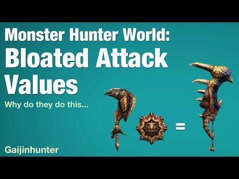 Monster Hunter World: Bloated Attack Values