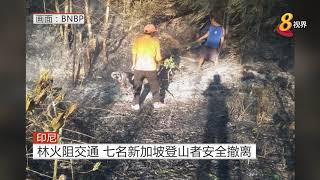 印尼林火阻交通 七名新加坡登山者安全撤离