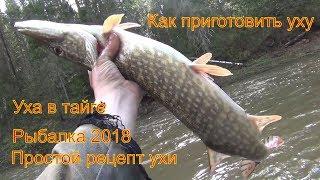 Рецепт ухи Уха по таежному Тайга Охота Рыбалка 2018 Уха из щуки и хариуса Как приготовить уху