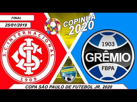 INTERNACIONAL X GREMIO 25/01/2020   FINAL DA COPA SÃO PAULO DE FUTEBOL JR 2020 [PES 2020]