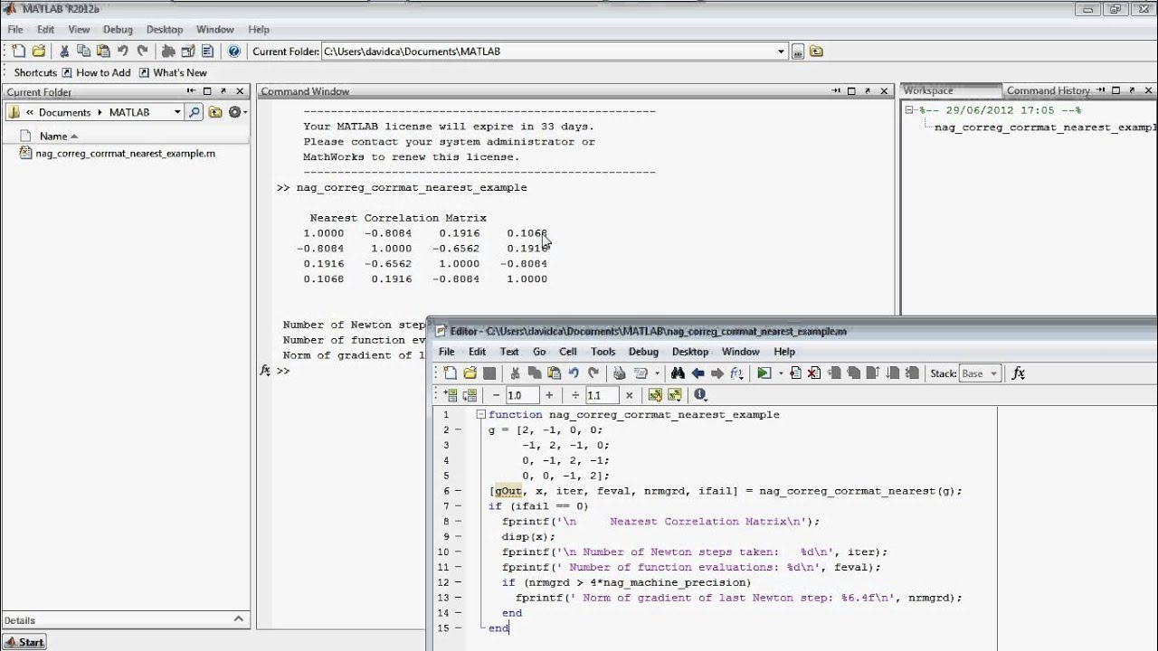 The NAG Toolbox for MATLAB® www nag co uk