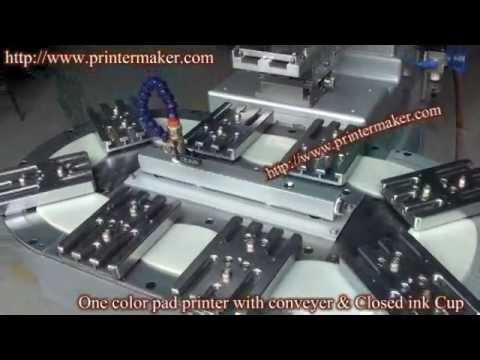 One color pad printer with conveyer & Closed ink Cup (China)