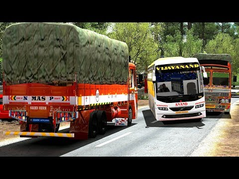 Bus Driver Frustrated Because Of Load Lorry | Euro Truck Simulator 2 Games
