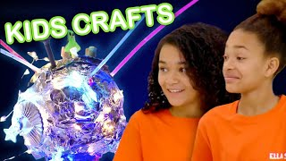 Make a Glow in the Dark Moon Galaxy!  | KIDS CRAFTS | Universal Kids