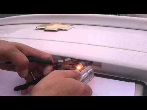 Замена номерных лампочек на шевролет авео