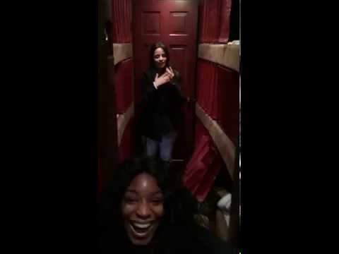 Dinah Jane, Ally and Normani prank Camila in the Tour Bus (08/30/2015)