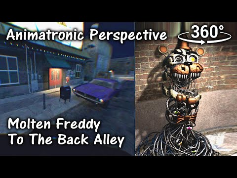 360°| FNAF6 Molten Freddy to the Back Alley - Animatronic