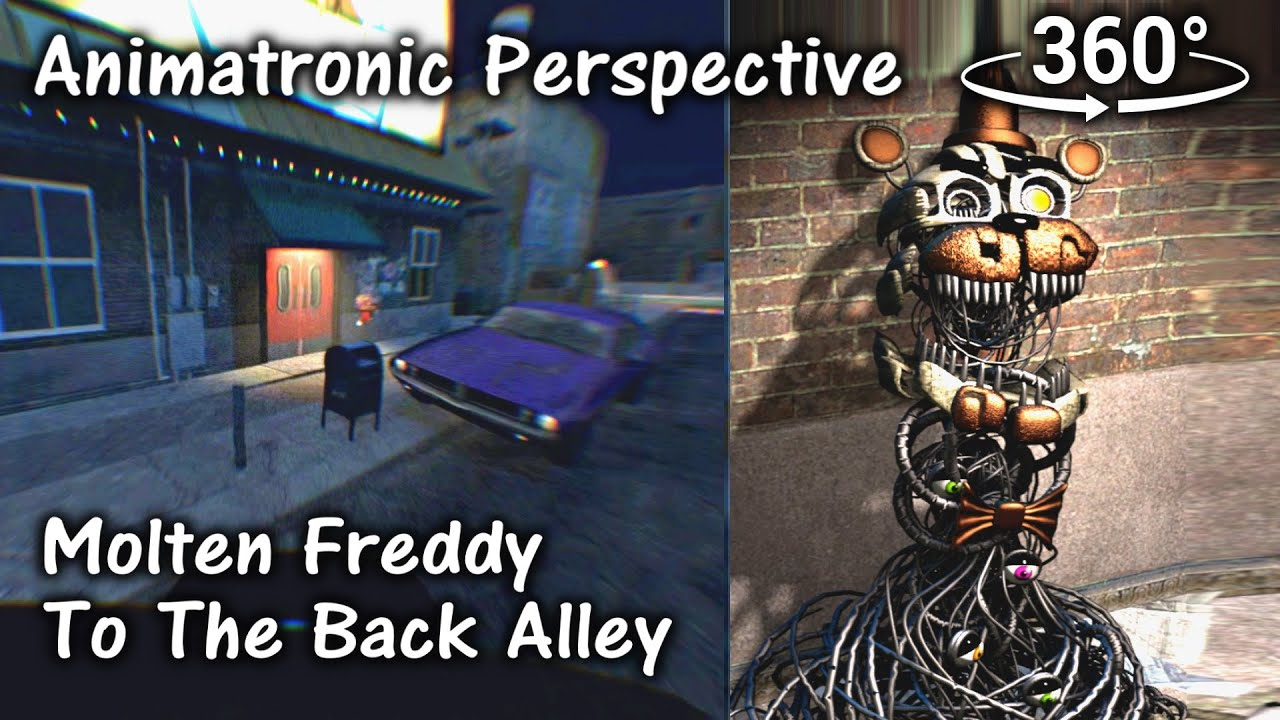 360°| FNAF6 Molten Freddy to the Back Alley - Animatronic Perspective [SFM]  (VR Compatible)