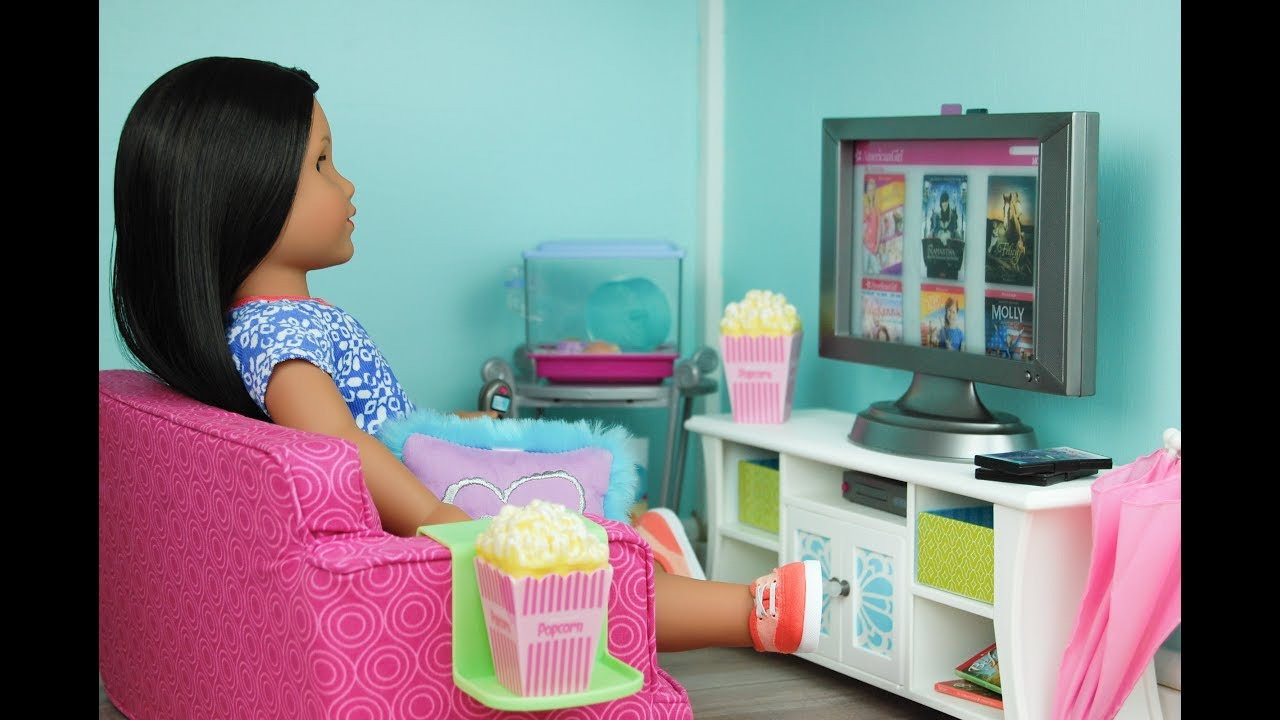 Attirant Setting Up The Doll Kitchen And Living Room   American Girl Room Tour   AG  Dollhouse Tour