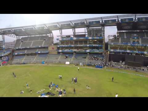An aerial view of the Wankhede Stadium in Mumbai