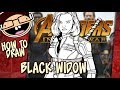 How to Draw BLACK WIDOW (Avengers: Infin