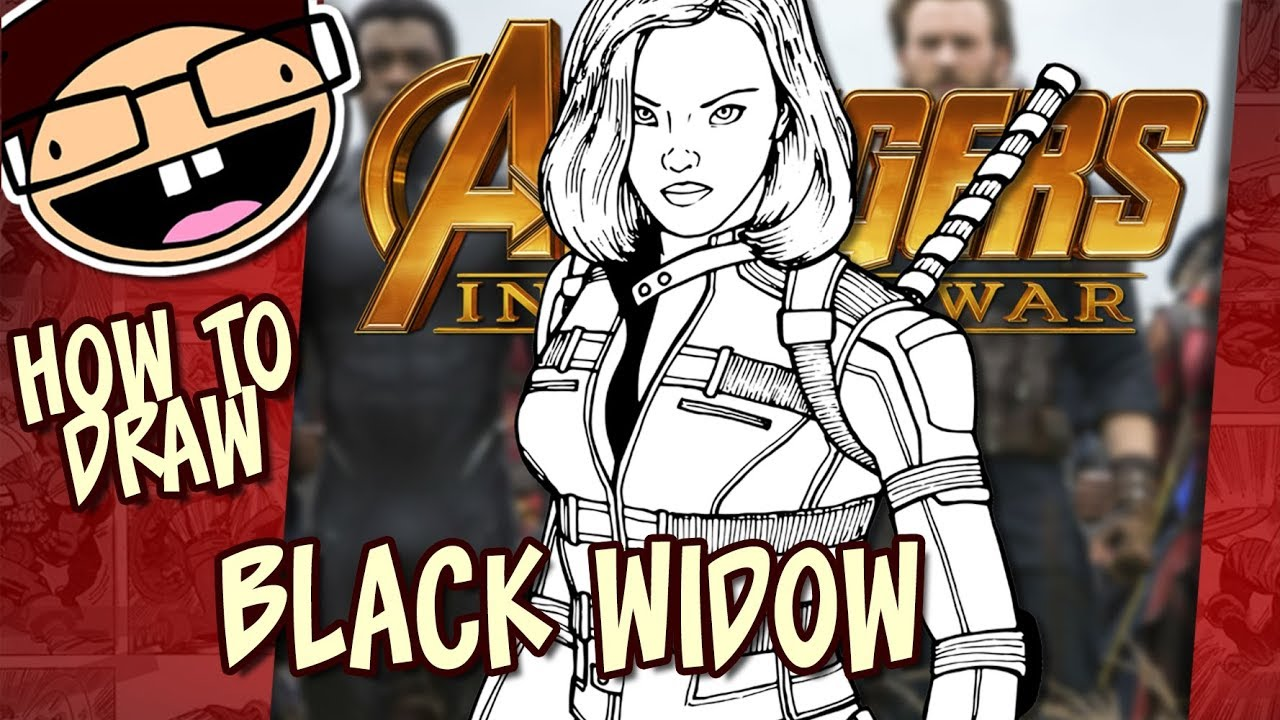 How To Draw Black Widow Avengers Infinity War Narrated Easy Step By Step Tutorial