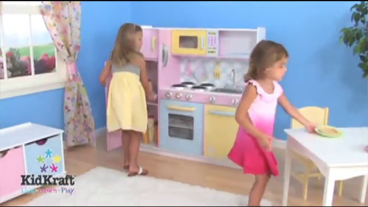 kidkraft large kitchen-- best toys for 3 year old girls - youtube