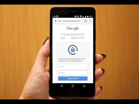 How to change password in gmail app in android phone