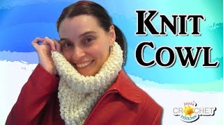 Easy Knit Cowl for Beginners!