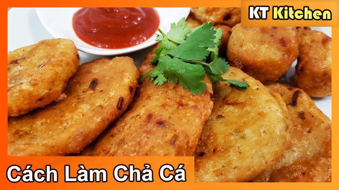 Cách Làm Chả Cá Dai và Giòn Từ Cá Tilapia [ Fried Fish Cake Recipe ] KT Food