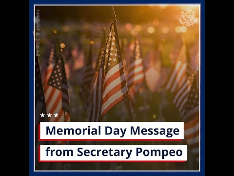 Memorial Day Message from Secretary Pompeo