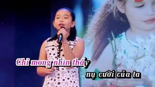 Karaoke Đạo Làm Con | Bé Ngọc Ngân