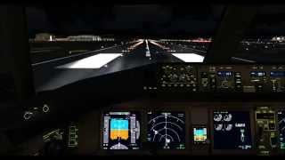 PMDG 777 Korean air RKPK-RKSI on vatsim and go-around,fsx,fs2crew