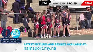 WHK Gym vs Pro-Ed Academy U/14 | 26 July 2019 Full Game | Capricorn Super League Netball Finals