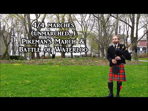 Pikeman's March & Battle Of Waterloo, Bagpipes