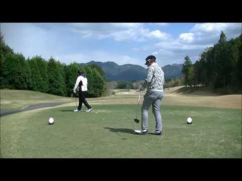 2018-04-08富士スタジアムゴルフ倶楽部北コース視察ラウンド後半OUT