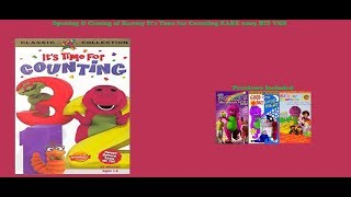 Barney It's Time for Counting RARE 2003 HIT VHS Opening & Closing