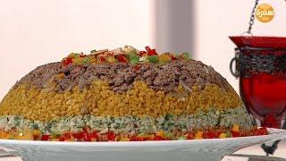 أرز ملون طبقات بالعصاج   سالي فؤاد
