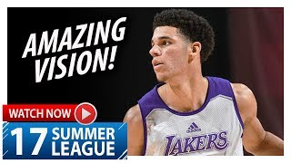 Lonzo Ball Triple-Double Highlights vs Celtics (2017.07.08) Summer League - 11 Pts, 11 Ast, 11 Reb thumbnail