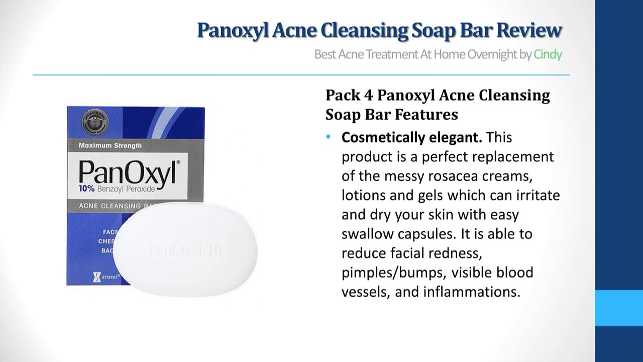 Panoxyl Acne Cleansing Soap Bar Review