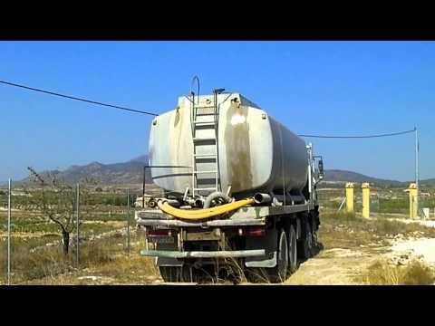water truck tanker filling