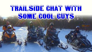 Paisteboy meets some cool guys on the trail in Old Forge, NY| March 2019
