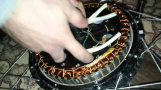 Разборка мотор колеса 48V 500Вт(Это видео - один из вариантов разборки мотор колеса, видно из чего оно состоит внутри., 2016-03-09T09:36:51.000Z)