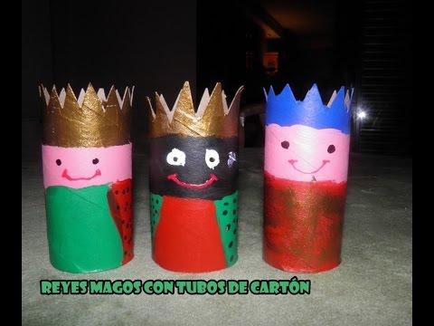 Decoraci n navide a reyes magos con cart n del papel - Decoracion con carton de papel higienico ...