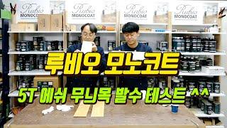 [루비오 모노코트 TV] 5T 에쉬 무늬목 발수 테스트…